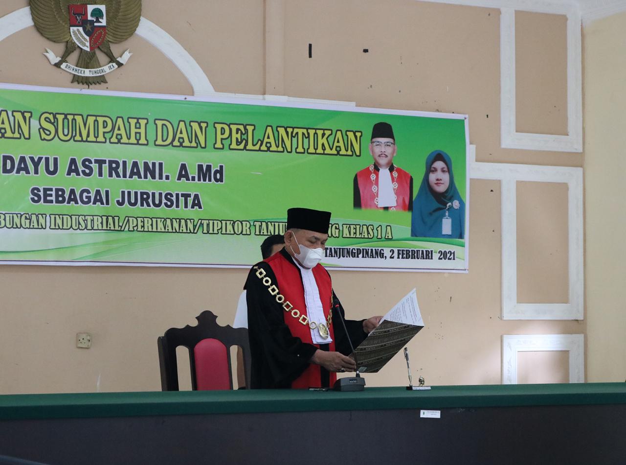 Pelantikan Jurusita Pengadilan Negeri Tanjungpinang
