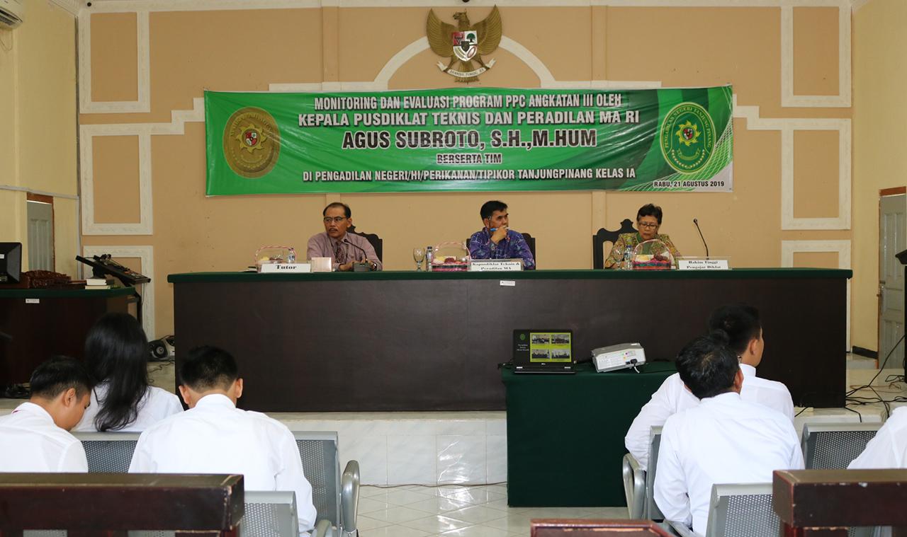Kunjungan Kepala Pusdiklat Teknis dan Peradilan MA RI